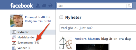 Facebook Evenemang